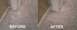door corner carpet repair