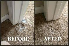 carpet repair on a corner