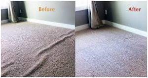 crumpled carpet repair